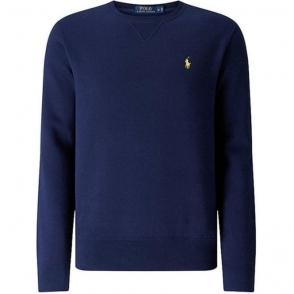 Ralph Lauren Polo Long Sleeve Slim Sweatshirt in Navy