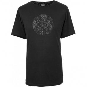 Pretty Green Paisley T-Shirt in Black