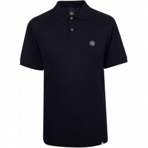 Pretty Green Pique Hart Polo Shirt in Black