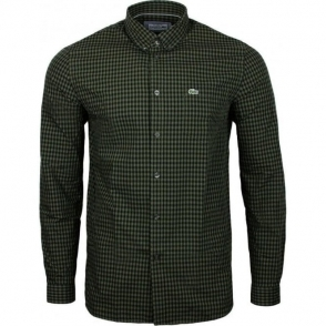Lacoste Check Shirt in Green