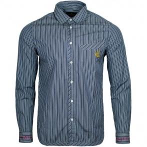 Vivienne Westwood Classic Pinstripe Shirt in Blue