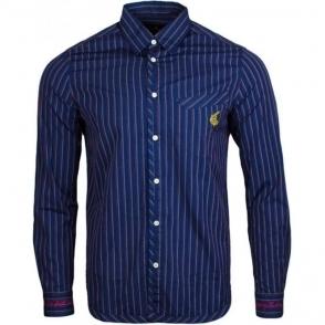 Vivienne Westwood Classic Pinstripe Shirt in Navy