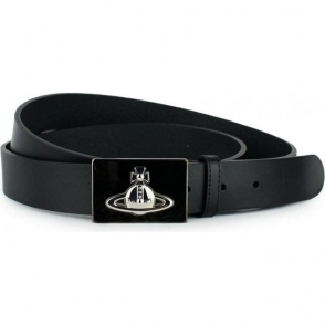 Vivienne Westwood Square Buckle Belt in Black