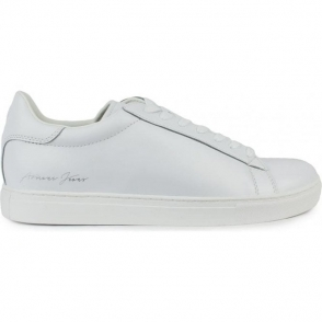 Armani Jeans Signature Trainers in White