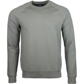 Armani Jeans Embossed Logo Sweatshirt in Grey
