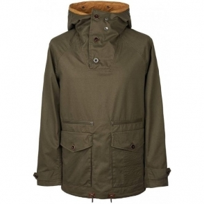 Pretty Green Overhead Cagoule Jacket in Khaki