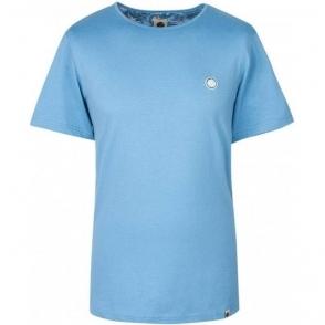 Pretty Green SS Crew Neck T-Shirt in Blue