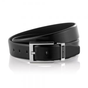 Cowhide belt 'Ennaro' by BOSS in Black