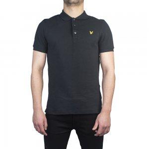 SSPLAIN Polo Top In Black