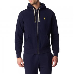 Polo Hoodie In Navy