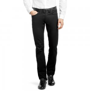 DALAWARE Slim-Fit Cotton Blend Jeans In Black / Long Leg