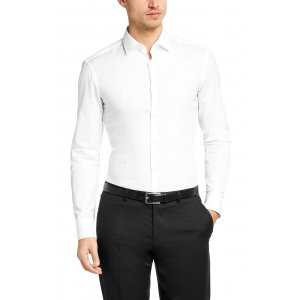 Boss Black Jilip Slim Fit Business Shirt in White