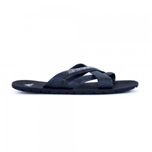 Emporio Armani Cross Flip Flops in Navy