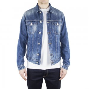 DENIM Jacket In Mid Wash Denim