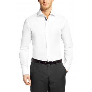 Boss Black Gregory Regular Fit Formal Shirt With Shark Collar in White