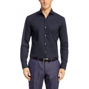 JERY Slim-fit Business Shirt In Dark Blue