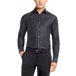 GERALD Regular-Fit Business Shirt In Dark Grey
