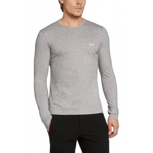 TOGN Long Sleeve T-shirt In Grey Cotton