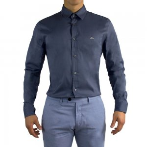 Lacoste Long-Sleeved Shirts in Dark Blue