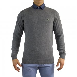 Lacoste Knitwear Crew Neck in Grey
