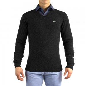 Lacoste Crew Neck Knitwear in Black