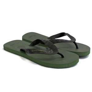 Boss Orange Flip Flops Losti in Dark Green