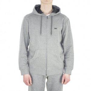 Sweatshirt Logo Hooded In Grey