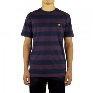 Lyle & Scott Vintage Block T Shirt in Dark Purple