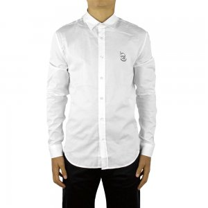 Moschino Love Moschino Shirts White Skull Logo