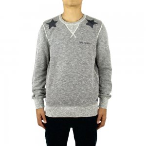 True Religion Sweatshirt Stars in Grey