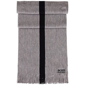 Boss Green Scarves Knitted Scarf in Grey