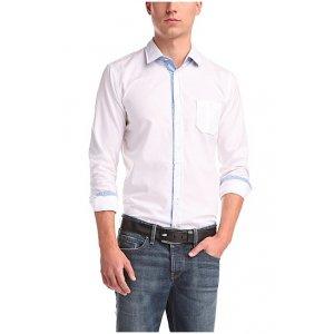 Boss Orange Long Sleeved Shirt EslimE in White