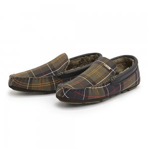 Barbour Slippers Monty in Green
