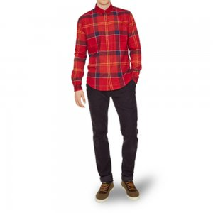 Barbour Shirt Johnny in Red