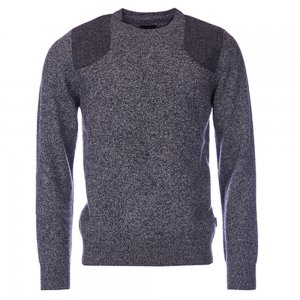 Barbour Knitwear Abraham in Charcoal