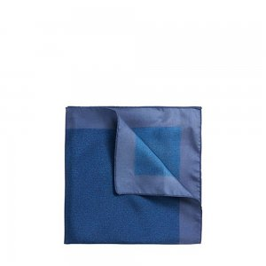 Boss Black Silk Pocket Square in Dark Blue