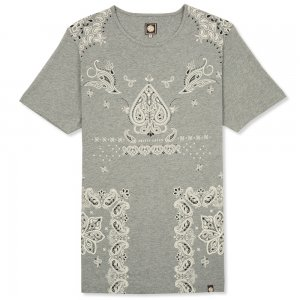 Pretty Green T-shirts Marl Jerry Tee in Grey