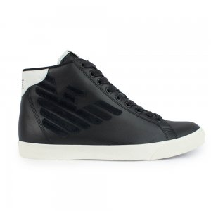Ea7 Trainers Prime Hightop Leather in Black