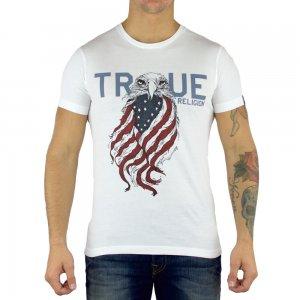 True Religion T-shirts Eagle in White