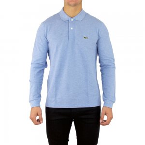Lacoste Polo Shirts Long Sleeve in Sky Blue
