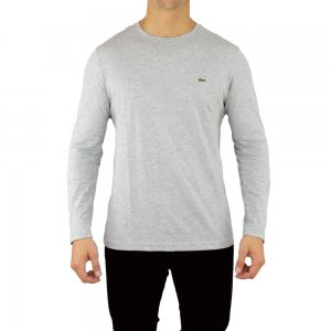 Lacoste T-shirts Long Sleeve in Grey