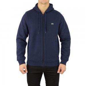Lacoste Sweatshirt Zip Up Logo in Navy