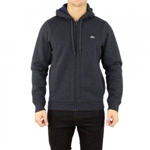 Lacoste Sweatshirt Zip Up Logo in Dark Grey