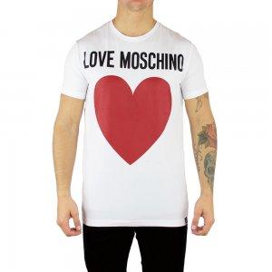 Moschino T Shirt Big Heart in White