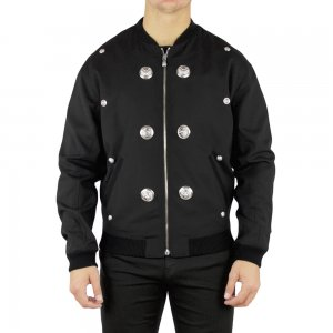 Versus Versace Coat Studded in Black