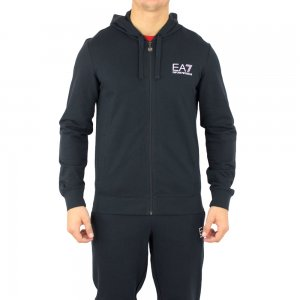 Ea7 Sweatshirt Corehood in Dark Blue