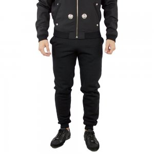 Tracksuit Bottom Fleece Pant In Black