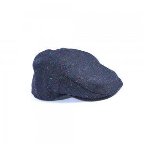 Barbour Hats Moons Tweed Cap in Navy