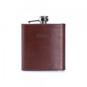 Barbour Accessories Hip Flask Gift Box in Brown