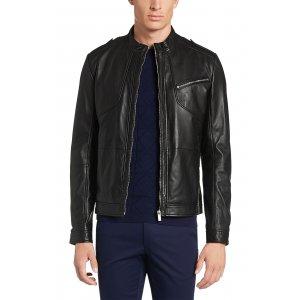 Coat Leather Lanex In Black